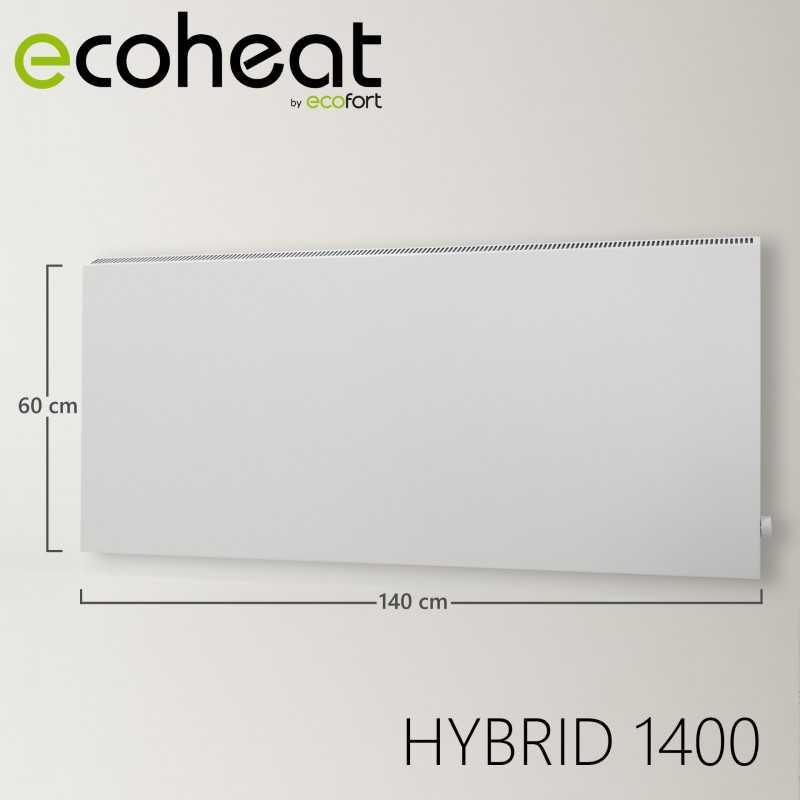 ecoheat chauffage 224 infrarouge hybride 6001400 watt
