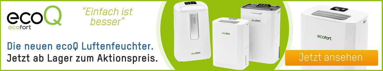 Neu bei ecofort: Die ecoQ Luftentfeuchter