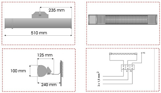 burda term 2000 ip67 low glare radiateur infrarouge tanche l 39 eau. Black Bedroom Furniture Sets. Home Design Ideas